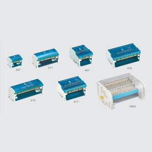 1PC 207 211 215 Terminal Block Din Rail distribution Box 407 411 415 160A Plastic waterproof junction box(China)