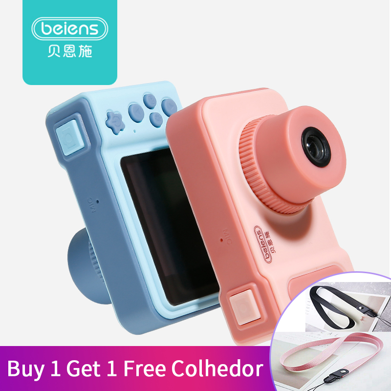 Beiens Kids Toy Digital Camera Children Mini Electronic Toy USB Charging with Cable 12 Languages Baby Educational Toys Best Gift αυτοκολλητα τοιχου καθρεπτησ