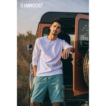 SIMWOOD 2021 Spring new long sleeve t shirt men solid color 100% cotton o-neck tops plus size high quality t-shirt  SJ150278 2