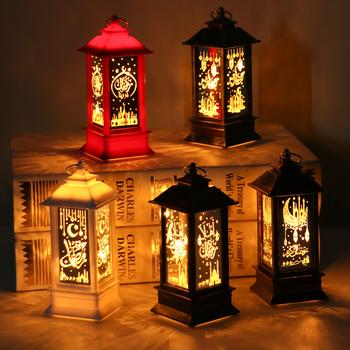 LED Ramadan latarnia wiatr światła Ramadan wystrój domu Eid Mubarak islamski muzułmanin Party Decor EID Al Adha Ramadan Kareem prezenty tanie i dobre opinie PATIMATE CN (pochodzenie) Z tworzywa sztucznego Id al-Fitr Ramadan Decorations