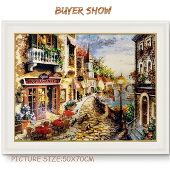 HUACAN Diamond Painting City Landscape Diamond Embroidery Scenery Handicraft Full Square New Arrival Home
