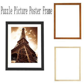 Handmade Diy drewniane Puzzle obraz w ramie plakat w ramce ramki dekoracji wnętrz tanie i dobre opinie Drewna Nowoczesne Rectangle Pojedyncze ramki Ramka na zdjęcia