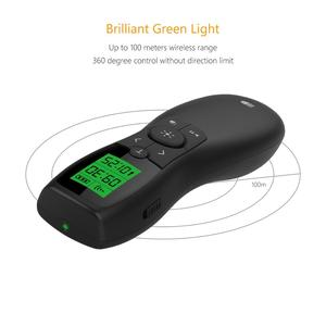 Image 2 - Wireless Presenter, Doosl Rechargeable Green Pointer Laser with LED Display 2.4GHz Powerpoint Presentation Remote Control