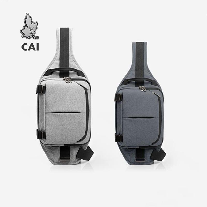 CAI Fashion Waterproof  Chest Bag Waist Pack Bag Waistbag Men Running Phone Denim Bag Women Shoulder Sling Belt Bags Pouch