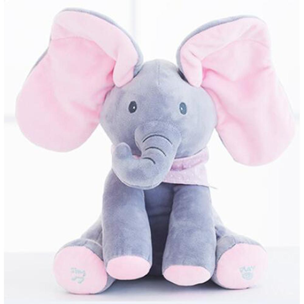 Kuulee Music Doll Elephant Electric Singing Plush Toy High Quality Child Interesting Toys Elephant PP Cotton
