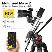 חדש Zeapon ממונע מיקרו 2 רכבת מחוון קל משקל נייד עבור DSLR ו ראי מצלמה עם 2easylock 2 נמוך פרופיל הר