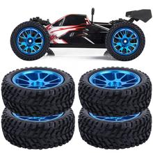 75mm RC Alloy Wheel Blue Rally Tire Tyre for WL 1/18 A959 A979 A969 Racing Car RC Toy Accessory