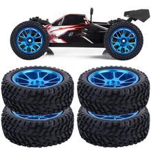 Rueda de aleación de 75mm para WL 1/18 A959 A979 A969, neumático de Rally azul, accesorio de juguete