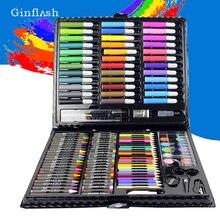 150 יח\סט ילדי ציור ציור סט מים צבע עט עפרון שמן פסטל מברשת צבע ציור כלי אמנות כתיבה ספר סט