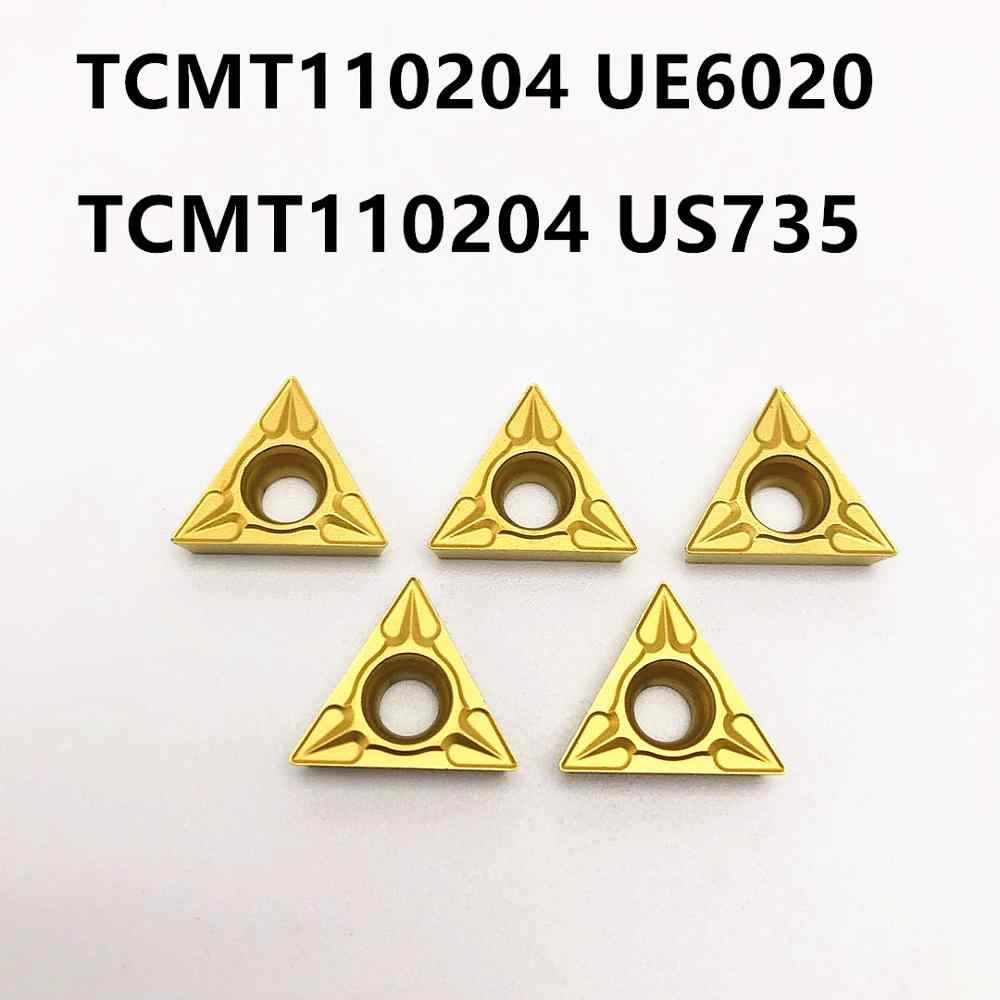 TCMT110204 VP15TF UE6020 US735 جديد عالية الجودة كربيد قاطعة المطحنة آلة تحكم رقمي بالكمبيوتر TCMT مخرطة قطع أداة TCMT 110204