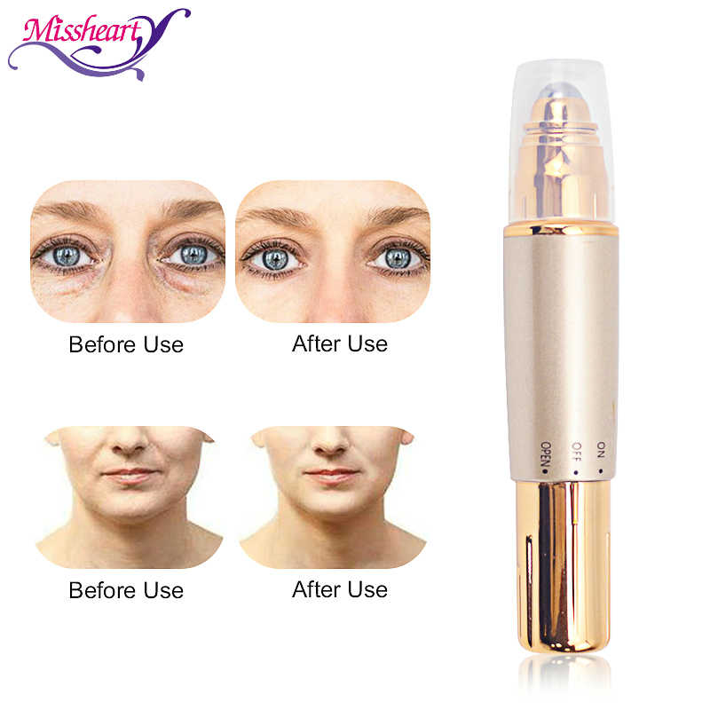 عالية التردد الاهتزاز مدلك الوجه التغذية الرصاص في سبيكة الجمال العين الصغيرة عصا أسطوانية للتدليك الوجه ثبات إزالة التجاعيد