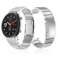 Dla Huami Amazfit GTR 47mm metalowe ze stali nierdzewnej pasek opaski dla huami Amazfit GTR 42mm/tempo Stratos 2 2S bransoletka watchband