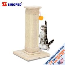 【US Warehouse】21 Cat Climb Holder Tower Tree Scratching Sisal Post Climbing Beige USA  shipping