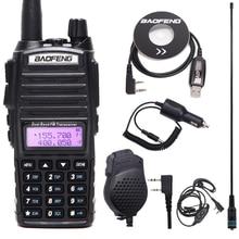 Original BaoFeng UV 82 Walkie Talkie 5W 128Ch 2 PTT Dual Band VHF UHF 136 174MHZ 400 520MHZ Portable Baofeng UV82 Ham Radio UV 8