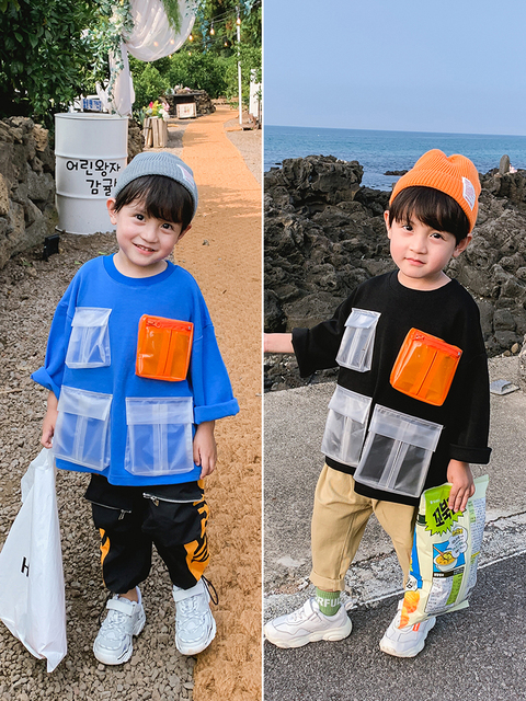 Boys Sweater Pullover Children New Children's Clothing Baby Autumn Korean Version of the Top Children Western Style Spring 1
