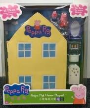 2020 genuine peppa pig peppa casa da família vermelho carro escolar ônibus playground slide balanço geroeg figuras crianças brinquedo presente caixa original