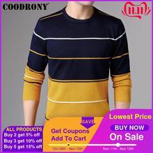 COODRONY Casual O Neck Pull Homme bawełniany sweter mężczyźni odzież 2018 jesień zima miękki wełniany sweter mężczyźni z długim rękawem dzianina B015