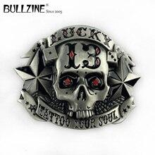 De Bullzine Groothandel Lucky 13 Cool Gesp Tin Afwerking FP 02790 Geschikt Voor 4Cm Breedte Riem