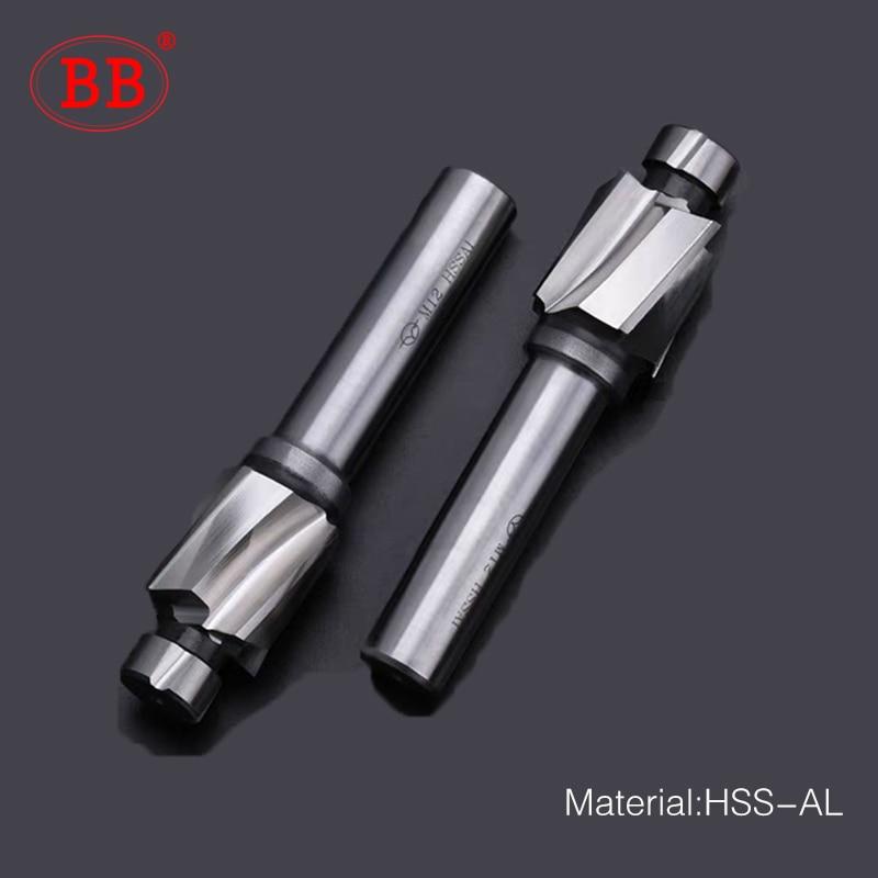 BB Counterbore End Milling Tool HSS M3-M16 For Flat Bolt Holes Screw Caps Ejector Cap