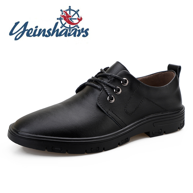 Mens Shoes Casual Leather Formal Business Shoes Brand Male Comfortable Shoes Classic Fashion Bureau Oxford Zapatos De Hombre image