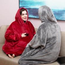Femmes couverture sweat Robe hiver sweats à capuche en plein air manteaux chaud confort peignoir noël polaire couverture Sudadera Mujer