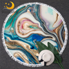 BlessLiving Marble Large Round Beach Towel for Adult Quicksand Microfiber Bath Towel Rock Stone Sunblock Blanket Cover Dropship 1