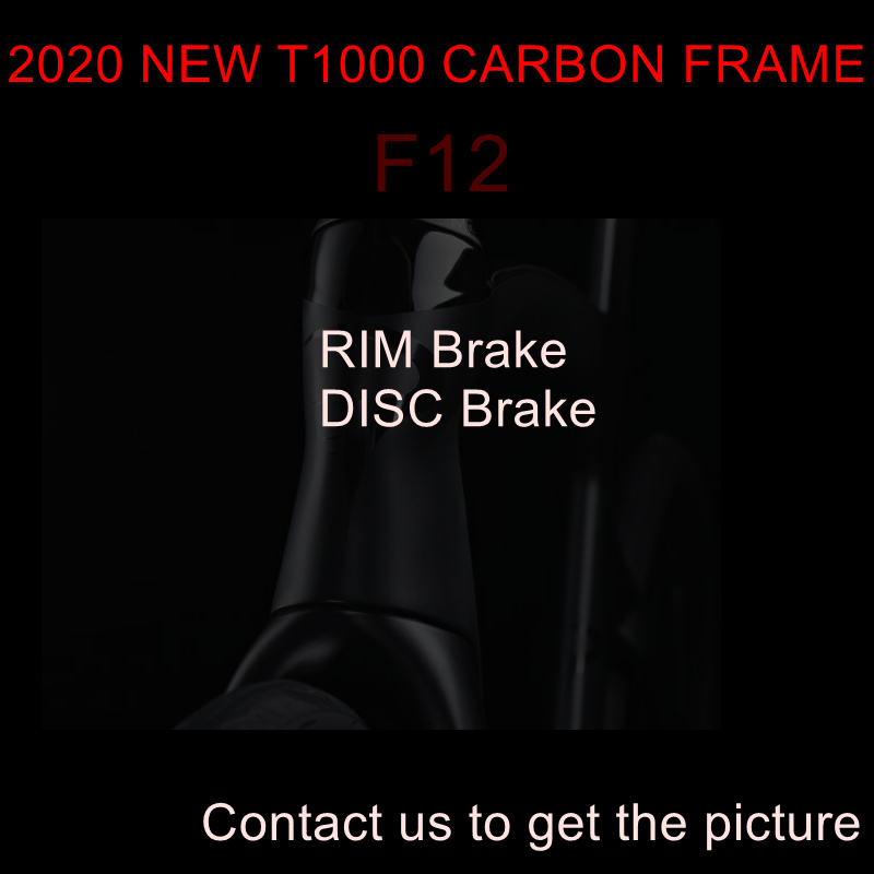 2020 T1100 1k New F12 Carbon Road Frame Bike Disc Disk Bicycle Frameset Handlebar Size 42 - 59cm Made In Taiwan Ship DPD XDB