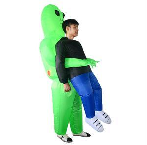 Image 3 - Et alien nadmuchiwany kostium potwora straszny zielony obcy przebranie na karnawał dla dorosłych impreza z okazji Halloween Festival Stage