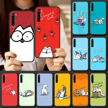 Cute cartoon Simons cat Phone case For Xiaomi Redmi Note 7 8 8T 9 9S 4X 7 7A 9A K30 Pro Ultra black Etui silicone hoesjes 3D image