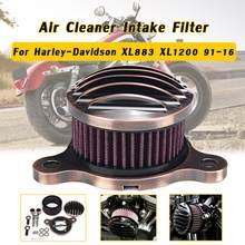 Filtro de aire para motocicleta Kit de filtro de aire CNC sistema de admisión para Harley Davidson Sportster 883, 1200, 1991-2016 de hierro 883, 2009-2016