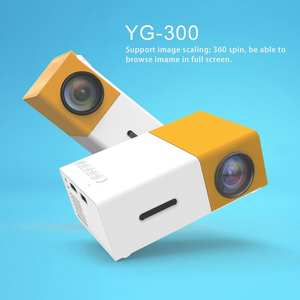 Mini Projector Beamer Portable Ultra HDMI 1080P Home LED Theater Media-Player High-Resolution