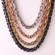 Granny Chic 8mm Silver Gold Black Huge & Heavy Stainless Steel Byzantine Mens Chain Necklace Or Bracelet Fashion Jewelry Gift