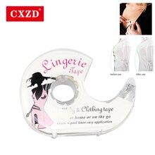 CXZD, модный ремешок, 3 метра, двусторонний, клейкий, безопасный, для нижнего белья, одежда, прозрачный бюстгальтер, в полоску, водонепроницаемый, медицинский, v-образный вырез