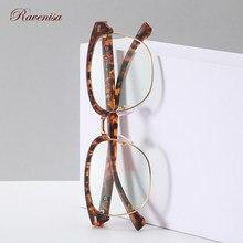 Ravensa-gafas ópticas para ordenador, lentes antiluz azul TR90 Hlaf, Marcos sin montura para hombre y mujer, 2020