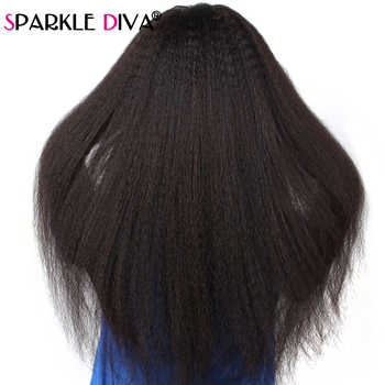 Kinky Straight Lace Front Wig Glueless 180 Density Brazilian Bob Wig Remy Lace Front Human Hair Wigs For Black Women Pre Plucked