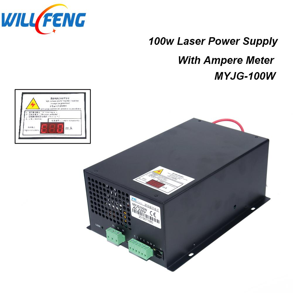 Will Feng MYJG 100w Co2 Laser Power Supply For Co2  Laser Cutter Engraving Machine ,80W Power Box With Ammeter