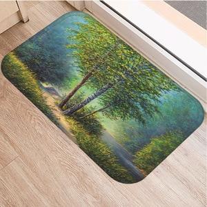 Image 4 - Petit tapis antidérapant motif darbre, souple, 40x60cm, décoration de chambre à coucher, cuisine, salon, salle de bains, tapis de sol