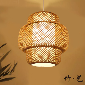 Japanese chandelier Bamboo Art Lamp Bamboo Chandelier Zen New Chinese style Tea Room Restaurant Bar Restaurant Chinese style