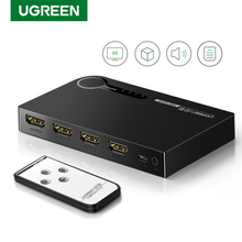 Ugreen 4K Hdmi Switch Voor Xiaomi Mi Box 3 Poorten 3 In 1 Out Hdmi Switcher Splitter Hub Voor xbox 360 PS4 Met Schakelaar Hdmi