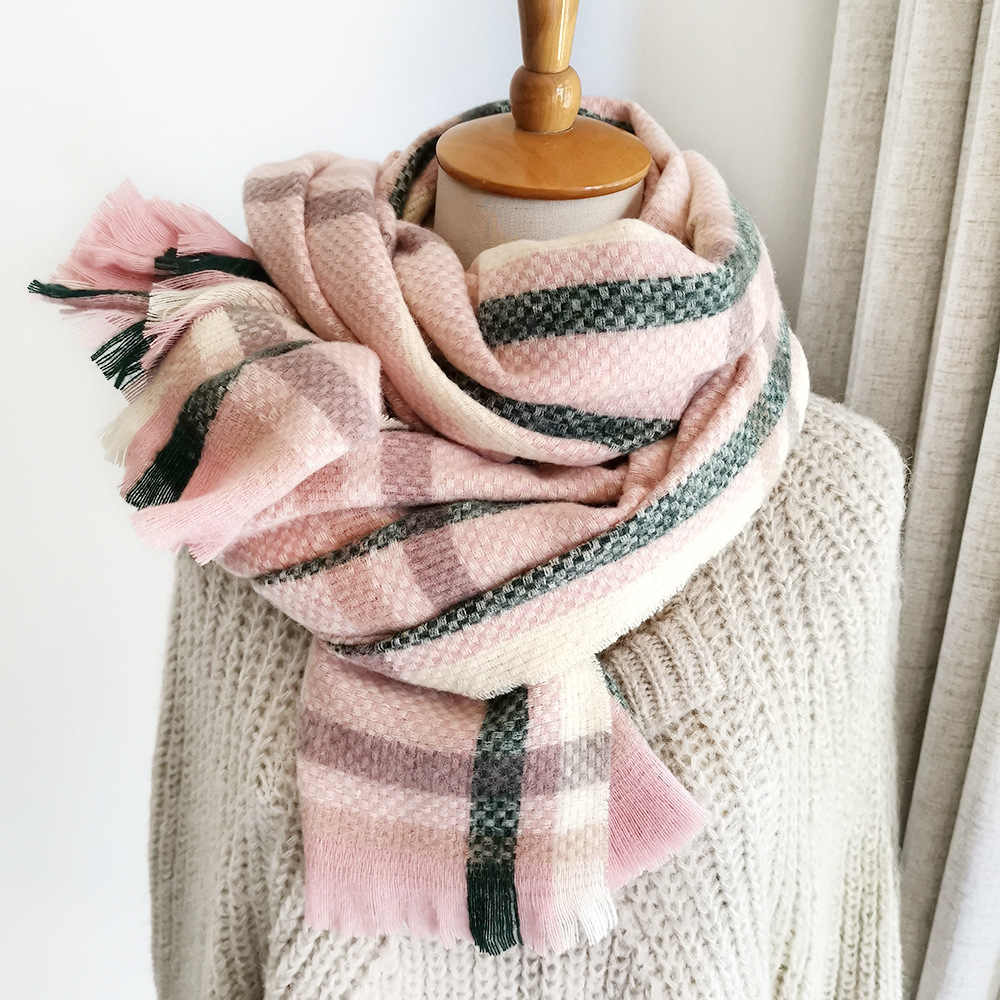 Brand Scarves Women Plaid Wool And Cashmere Scarf Pashmina Women Wrap Warm Keep Warm Winter Thinker SCARF