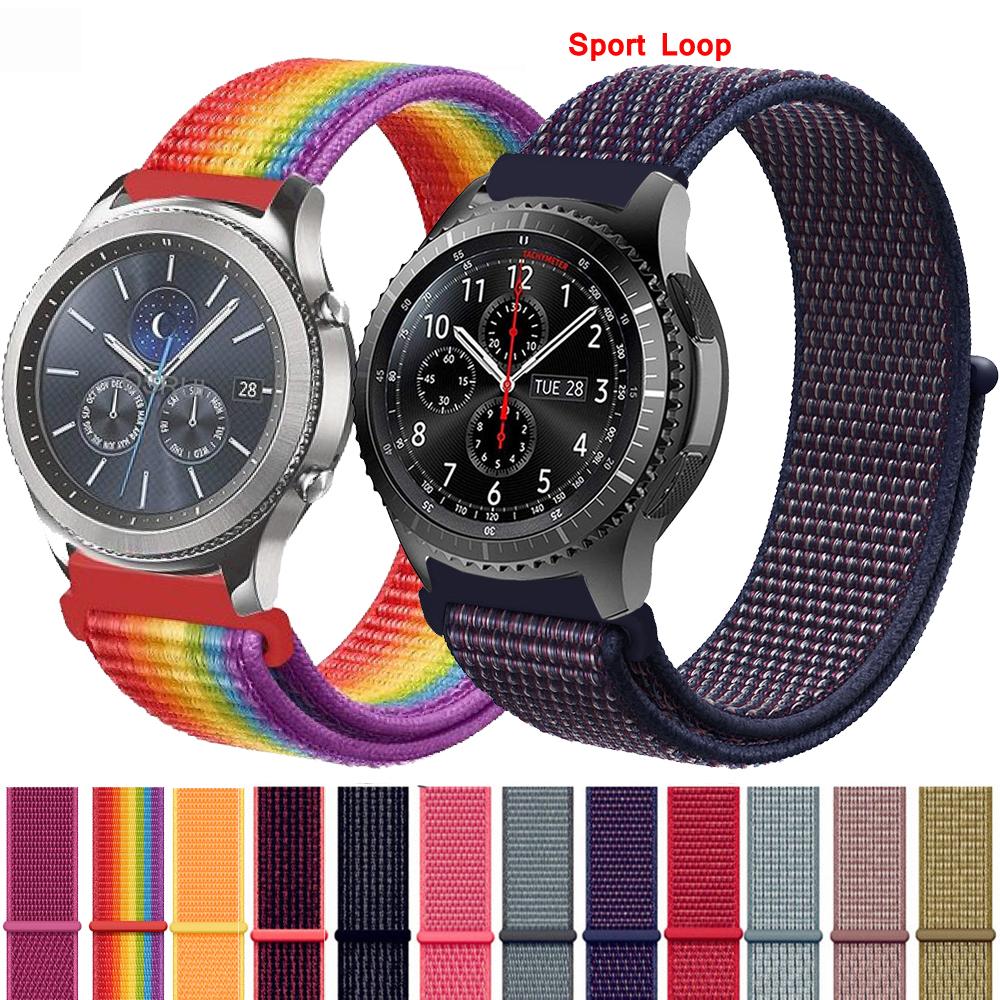 Gear S3 22mm 20mm Strap For Samsung Galaxy Watch 42mm 46mm Band Frontier Classic Active Sport Nylon Loop For Samsung S3 S2
