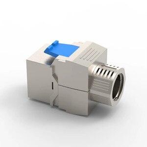 Image 2 - חתול 8 רשת מחבר Toolless Keystone ג ק מודול מלא מסוכך RJ45 שקע מסוף עד PoE + 100W 40G 2000MHz LAN חוט