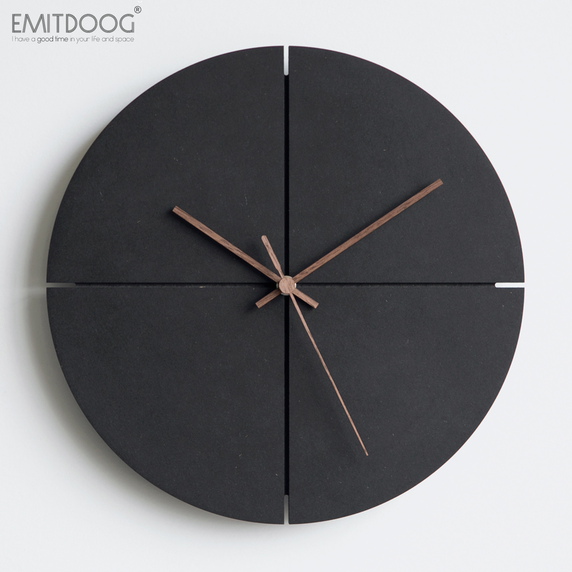 Luxury Wall Clock Modern Design Wood Mute Minimalist Wall Clock Stylish Orologi Da Parete Moderni Living Room Home Decor SS60WC