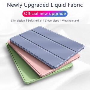 Силиконовый чехол из искусственной кожи для iPad 9,7 Air 2 3 Mini 4 5, Чехол для iPad Pro 11 9,7 10,2 7 6 5 поколения, чехол для iPad 2 3 4