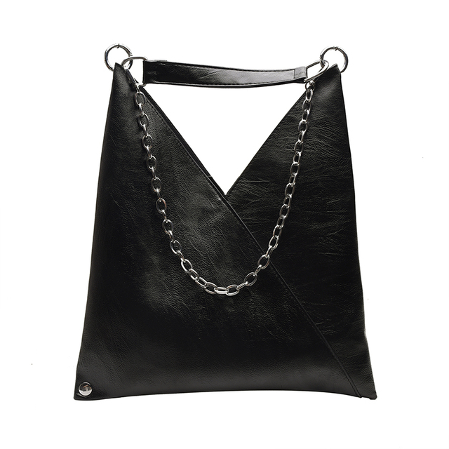 Vintage Leather Shoulder Bags For Women 2019 Chain Designer Lady Crossbody Bag Female Cool High Capacity Solid Color Handbags 5
