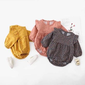 2020 wiosna dziewczynek pajacyki ubrania dla niemowląt bawełniane ubrania dla dzieci Romper jesień dziecko z długim rękawem dla dzieci kombinezon w kwiaty sweter tanie i dobre opinie campure COTTON Stałe O-neck Swetry Dziecko dziewczyny Trzy czwarte 20200204 Pasuje prawda na wymiar weź swój normalny rozmiar