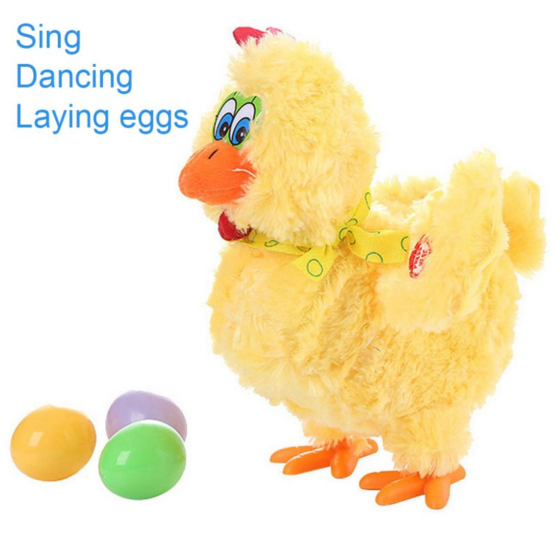 Easter Day 30cm Funny Doll Raw Chicken Hens Will Lay Eggs Of Chickens Crazy Singing&dancing Electric Pet Plush Toys Gifts