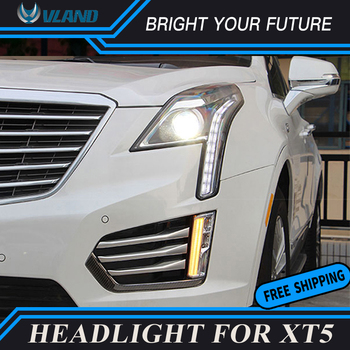 Car Front Lamps for Cadillac XT5 2015-2018 Headlight DRL Projector