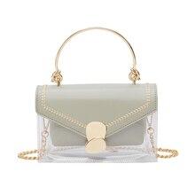 2019 Fashion clear small crossbody bag for women quality PU PVC satchel