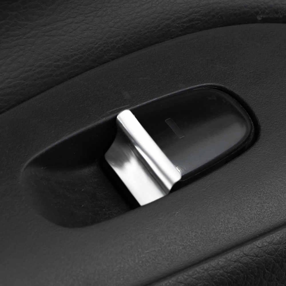 Xburstcar Nissan x-trail için T32 Qashqai J11 Altima Teana Maxima araba kapı pencere kaldırıcı Sequins Trim ABS krom çıkartmalar